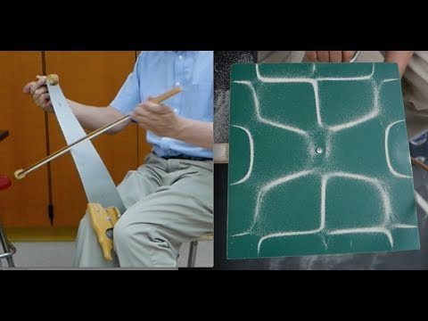 Musical Saws, Chladni plates and a Homemade bow // HomeMade Science with Bruce Yeany