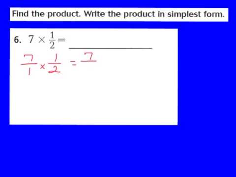 Lesson 7.3 Fraction and Whole Number Multiplication