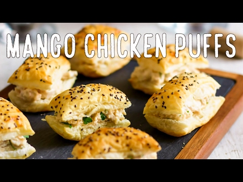 Mango Chicken Puffs Recipe | HappyFoods Tube