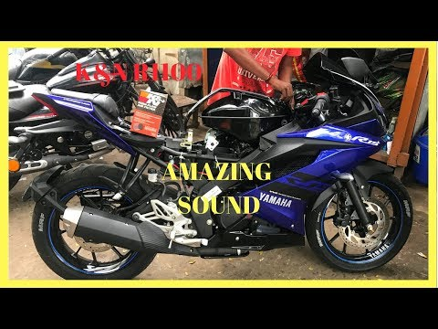 New Yamaha R15 v3 modified with | k&n filter R1100 | Amazing sound