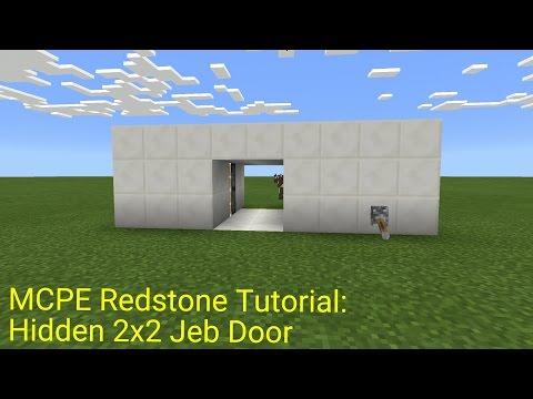 Minecraft Pocket Edition Redstone Tutorial: Hidden 2x2 Jeb Door (MCPE 1.0.5)