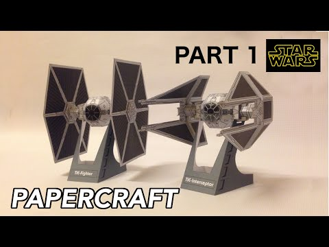 How to make Tie Fighter & Tie Interceptor Starwars PaperCraft (PART 1)
