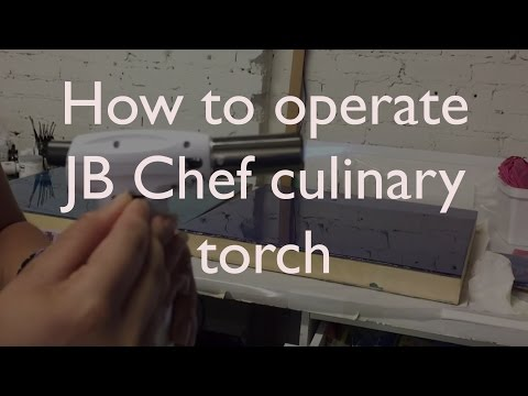 Instructions for Operating JB Chef Culinary Torch