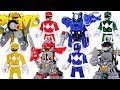 Power Rangers Battle Armor Transform Defeat The Meca Godzilla Dinosaurs DuDuPopTOY