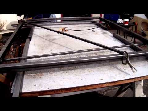 welding of frames for gates