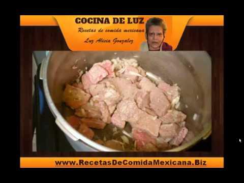 Recetas mexicanas familiares, comida Mexicana - Preparacion del bistec ranchero