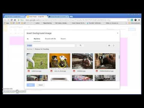 Background and Themes in Google Slides