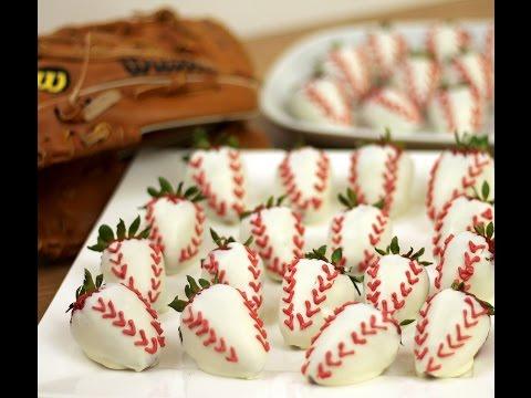 Chocolate Coated Baseball strawberries