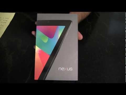 Unboxing: Google's Nexus 7 Tablet