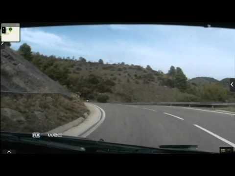 Onboard Kubica rally Catalunya-costa Daurada ss15 2015