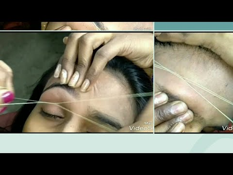 For New beginners painless {Forehead and Threading} with directions.