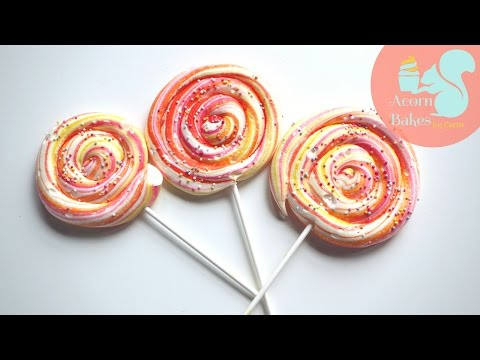 HOW TO MAKE LOLLIPOPS OUT OF MERINGUE | Acorn Bakes