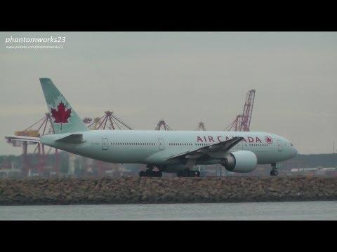 Air Canada 777-200LR Flight Take Off 34L Sydney Airport