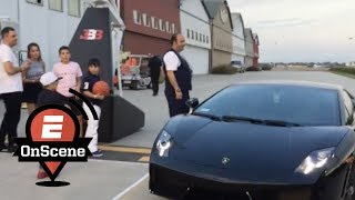 LaMelo Ball arrives to 16th birthday party in Lambo | OnScene | ESPN
