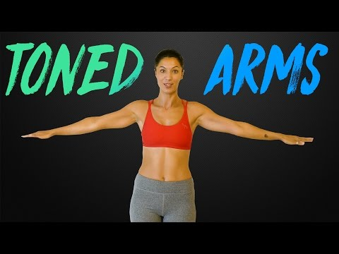 Strong, Sexy Arms with Sanela   Beginners Workout & Shoulder Stretches, At Home Fitness Exercises