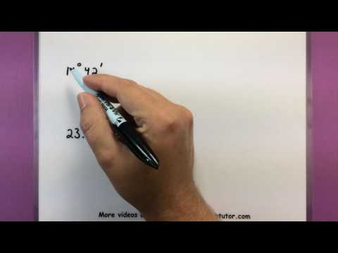 Trigonometry - Find the complement and supplement of an angle