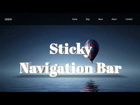 Sticky navbar with jquery | HTML, CSS & JavaScript