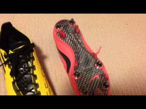 Difference between: Firm Ground vs Soft Ground Soccer Cleats/Football boots. Comparison video.