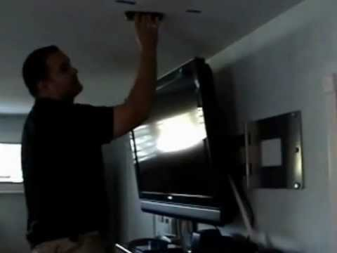 How to install surround sound wires: Part 2 Finding trusses