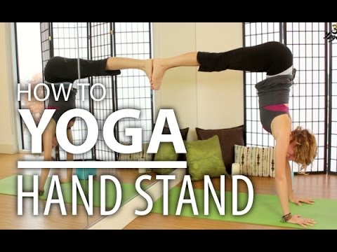Yoga for Beginners - How To Do A Yoga Handstand Safely. Advanced & Complete Beginners Yoga