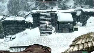 Skyrim Gameplay - Archer versus Master Conjurer, Necromage and Skeletons