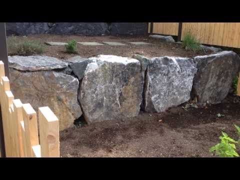 Rock wall Terraced Boulder Planter