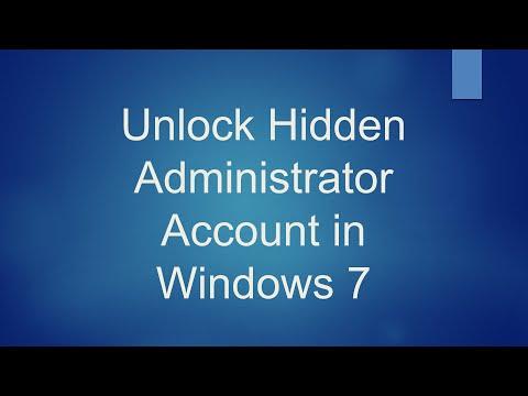 Hidden Administrator Account in Windows 7