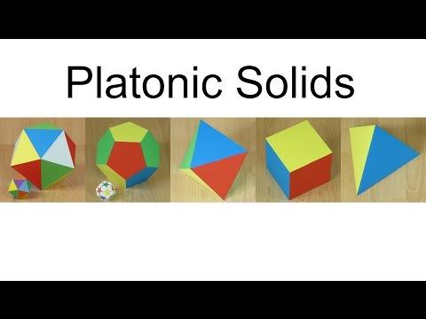 Paper Platonic Solids
