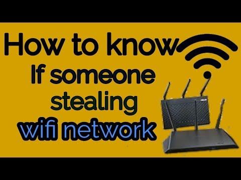 How to find out if someone stealing or hacking my WiFi network