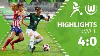 VfL Wolfsburg Frauen - Atletico Madrid 4:0   Highlights   UEFA Women's Champions League