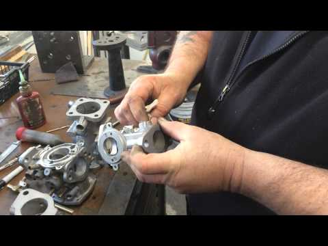 Installation of Shafts and Bushing in SU H Type Carburetor