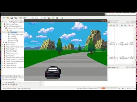 Java 2.5D from scratch - Pseudo 3D Top Gear like racing game test #1
