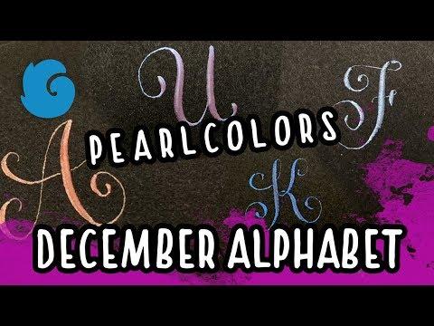 December Alphabet with Coliro Pearlcolors