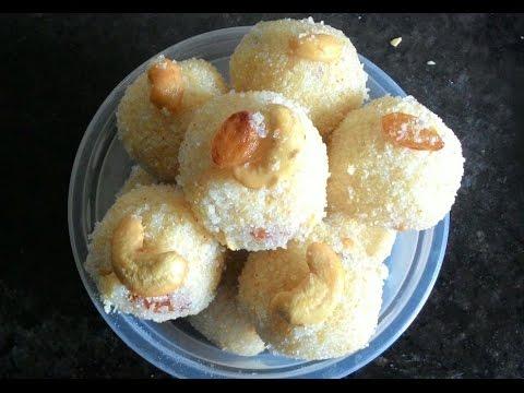 Ugadi Rava Ladoo sweet Recipe in Telugu || Rava Laddu Recipe || Sooji Ladoo