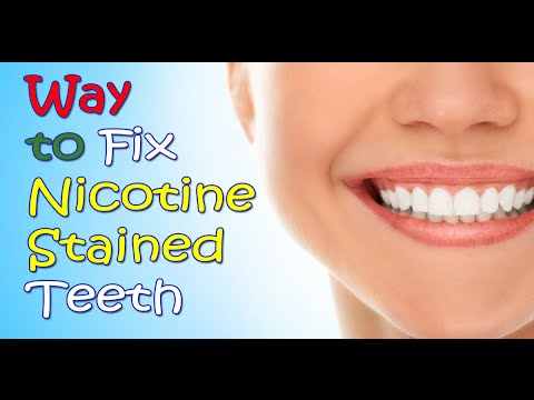 Way to Fix Nicotine Stained Teeth