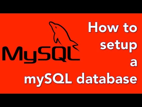 How to create a database website with PHP and mySQL 03 - Setup the database