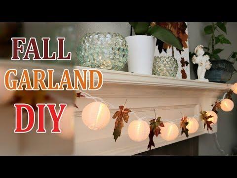 Fall Garland DIY REAL Leaf Project