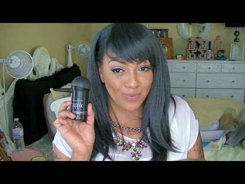 How To Thicken Edges or Balding Spots With Toppik Hair Fibers