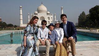 Prime Minister Justin Trudeau and family visit Taj Mahal