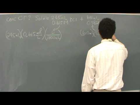 Molarity Calculation