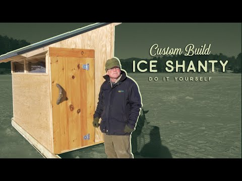 Custom Homemade Ice Shanty - Build Overview - Higher Elevations Adventures