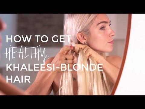 How to get healthy, Khaleesi-blonde hair | Locker Room Look Book