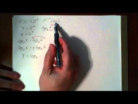 Finding Inverses of Logarithmic and Exponential Functions