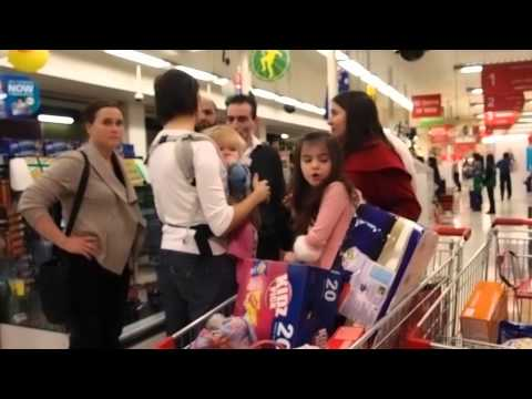 Mothers with their children visit Coles in Brunswick