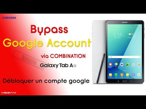 Bypass Google Account via COMBINATION [ Samsung T580 Galaxy Tab A (2016)  example ]