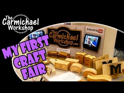 My First Festival and Craft Fair Woodworking Booth