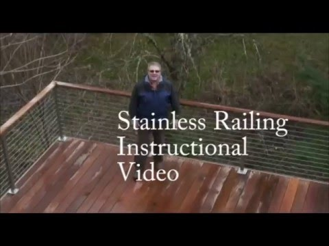 Stainless Cable Solutions Stainless Post Installation Video