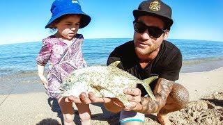 Amazing Beach Fishing With My Family - Ep 130