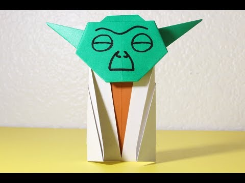 Easy Origami Yoda Instructions - How to make Star Wars origami