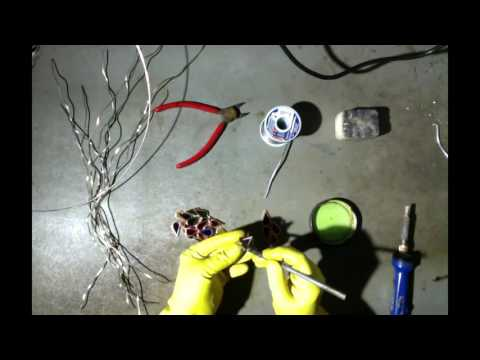 Making a Stained Glass Wire Tree - Time Lapse Video